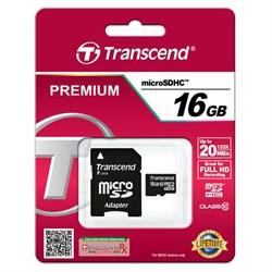 MicroSD 16GB Transcend Class10 Ultra UHS-I 20Mb/s
