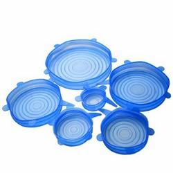 Набор силиконовых крышек для хранения продуктов