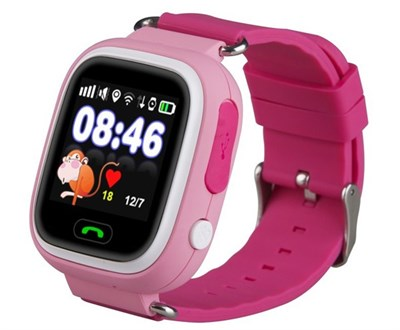 Умные часы Smart Kid Watch Q90 Pink - фото 11321