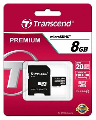 MicroSD 8GB Transcend Class10 Ultra UHS-I 20Mb/s - фото 4534