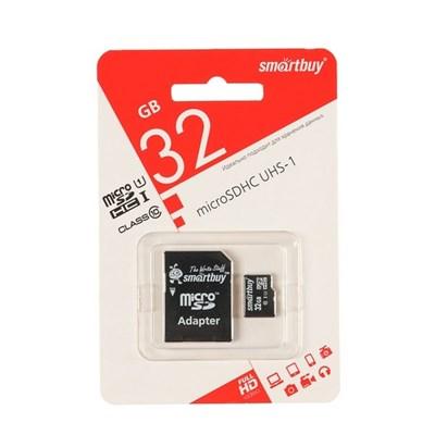 MicroSDHC 32GB SmartBuy, Class10 - фото 13038