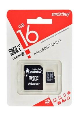 MicroSDHC 16GB SmartBuy, Class10 - фото 13040