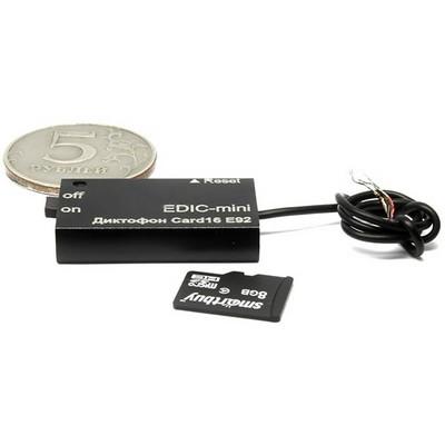Диктофон Edic-mini CARD16 E92 - фото 14303