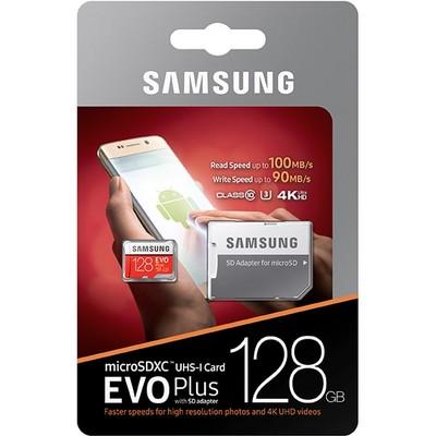 MicroSDXC 128GB Samsung Class10 U3 Ultra UHS-I EVO Plus 100MB/s - фото 14978