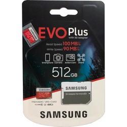 MicroSDXC 512GB Samsung Class10 U3 Ultra UHS-I EVO Plus 100MB/s