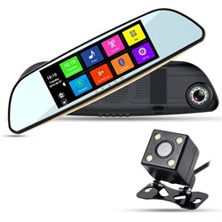 Видеорегистратор ХРХ ZX837 зеркало с навигатором и камерой з/в