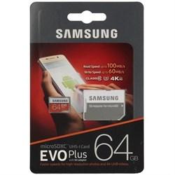 MicroSDXC 64GB Samsung Class10 U3 Ultra UHS-I EVO Plus 100MB/s